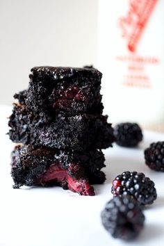 salted caramel blackberry brownies