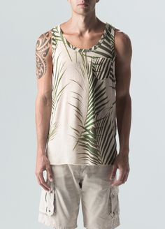 Regata Fluid Linen Palm Leaf - osklen