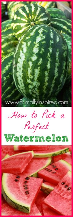 Here& some tips so you can learn how to pick a watermelon that& super sweet and juicy every single time! I& show you how to pick the perfect watermelon. Fruit Recipes, Real Food Recipes, Cooking Recipes, Healthy Recipes, Food Tips, Paleo Fruit, Food Ideas, Watermelon Recipes, Paleo Diet