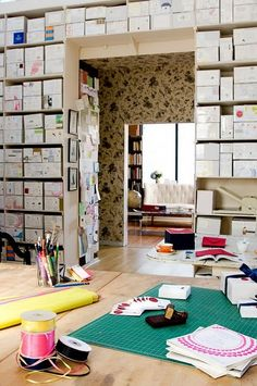 cluttered looking, but I like the idea of built-in storage around a doorway