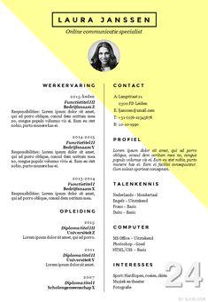 CV sjabloon + sollicitatiebrief sjabloon in Word,volledig zelf te bewerken. http://deleydsche.nl/product/cv-sjabloon-24