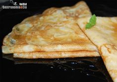 Receta de Crepes Pancakes, Crepes And Waffles, Gourmet Cooking, I Love Food, Quick Easy Meals, Wine Recipes, Breakfast Recipes, Sweets, Bread
