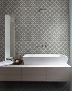 Ca'Pietra Cement Encaustic Trellis Pattern Tile - Flooring from Period Property Store UK Trellis Pattern, Shower Tile, Tile Floor, Bathroom Wall Cladding, Interior Floor, Patterned Floor Tiles, Wall Cladding, Encaustic Tile, Tile Patterns