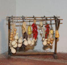 Dollhouse miniature Italian Trespolo hanging by cosediunaltromondo
