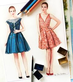 Fashion illustration by Doll Memories