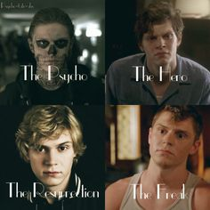 Find images and videos about american horror story, ahs and hero on We Heart It - the app to get lost in what you love. American Horror Story Memes, American Horror Story Seasons, Kyle Spencer, Phil Of The Future, Tate And Violet, Evan Peters, Papi, Film Serie, Horror Stories