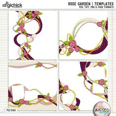 Rose Garden   Templates by Akizo Designs (For Digital Scrapbooking Page)