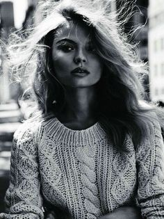 Aran sweater on a modern woman