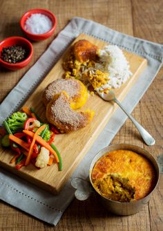 & We also have a fantastic option made with Pumpkin Fritters, Soups And Stews, Lentils, Cornbread, Burgundy, Rice, Vegetarian, Restaurant, Traditional