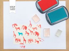 DIY Tutorial: Rubber Stamp Stationery for Kids by Antiquaria for Oh So Beautiful Paper (3)