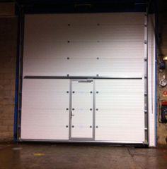 Porte de garage sectionnelle automatis e pour l 39 industrie - Porte de garage industrielle occasion ...