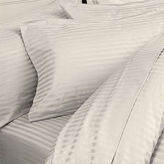 #Thread Count Egyptian Striped Duvet.. #Bedding Collections
