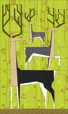 Looking for your next project? You're going to love Yes Deer Mini Quilt by designer JaneenVN.