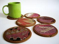 Turkish antique coasters.