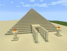 Minecraft Sand Egyptian Fire Pyramid