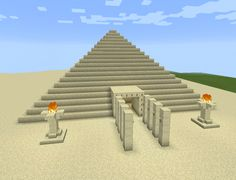 Minecraft Sand Egyptian Fire Pyramid