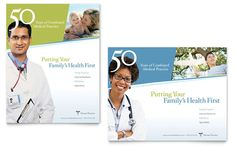 Family Physician Poster Template Design By StockLayouts  Poster Word Template