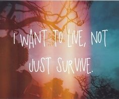 live not just survive