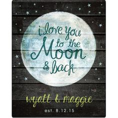 Personalized I Love You To The Moon and Back Canvas Available In Multiple Sizes, Size: 11 inch x 14 inch, White