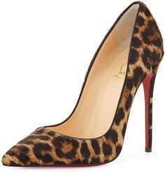 Christian Louboutin So Kate Calf Hair Red Sole Pump, Leopard/Black on shopstyle.com