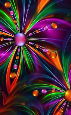 Flower created with fraktal editors Fractal Design, Fractal Art, Fractal Images, Rainbow Colors, Vibrant Colors, Colours, Murciano Art, World Of Color, Wallpaper Backgrounds
