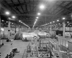 Republic P-47 Thunderbolt Bldg. #3 warehouse, 1944. by aeroman3, via Flickr