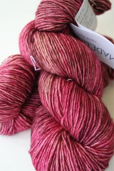I am in love with this beautiful yarn: Madelinetosh Tosh DK Fragrant