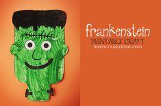 Printable Frankenstein craft.