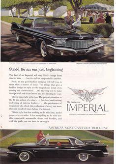 vintage Chrysler Imperial ad with fashion by Nina Ricci  #vintageads #vintagecarad #1960's #americana #ninaricci