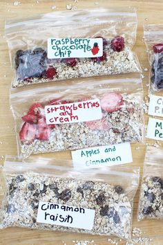 Homemade Instant Oatmeal Packets – The Fountain Avenue Kitchen Mix and match an extensive list of options to create healthy and economical alternatives to the store-bought packets. Kid- and adult-friendly! Instant Oatmeal Recipes, Homemade Instant Oatmeal, Healthy Sweet Snacks, Good Healthy Recipes, Healthy Eating, Clean Eating, Healthy Junk, Healthy Cooking, Delicious Recipes