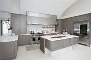 Modern Kitchen Grey Cabinets Awesome Design With Gray Kitchen Cabinets And Other Colored Themed Kitchen On Kitchen Modern Grey Kitchen, Light Grey Kitchens, Contemporary Kitchen Cabinets, Gray Kitchens, Contemporary Kitchens, Stylish Kitchen, Cheap Kitchen, Ikea Kitchens, Neutral Kitchen