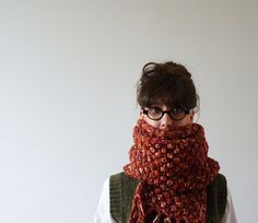 Cethosia Bobble Scarf by CreaKy on Etsy