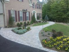 Brandywine Front Landscape Project - Walkway, Plantings and Entry Way  by The Sharper Cut, Inc. Landscapes