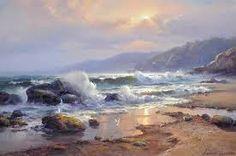 Risultati immagini per chris kandis artist Watercolor Landscape, Landscape Art, Landscape Paintings, Seascape Paintings, Watercolor Paintings, Sea Art, Pictures To Paint, Art Oil, Ocean