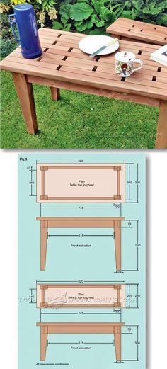 Small Table and Bench Plans - Outdoor Furniture Plans & Projects | WoodArchivist.com