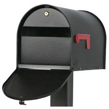 Shop for Solar Group Black Locking Post Mount Rural Mailbox. Get free delivery On EVERYTHING* Overstock - Your Online Home Improvement Shop! Security Mailbox, Rural Mailbox, Diy Mailbox, Modern Mailbox, Lockable Mailbox, Mounted Mailbox, Post Box, Black