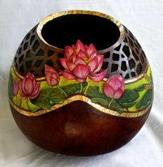 Fine Art Gourds   LOVE :) Fine art gourd avbrowning.artspan.com   gourds