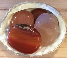 Carnelian Smooth Healing Stone Healing Crystal by SoulswithHeart
