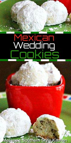 The dough for these crisp and buttery Mexican Wedding Cookies has a citrus twist. Sometimes called Snowballs or Russion Tea Cakes, they always spread joy. Mexican Dessert Easy, Traditional Mexican Desserts, Mexican Cakes, Mexican Potluck, Mexican Wedding Cake Cookies, Italian Wedding Cookies, Crinkle Cookies, Chip Cookies, Italian Cookie Recipes