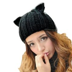 Clothing, Shoes & Accessories Ingenious 11 Ladies Women Knit Beret Ear Muff Hat Faux Fur Cat Jaclyn Smith White Pink