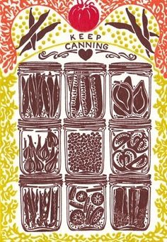 Keep Canning - Letterpress Print. $38.00, via Etsy.