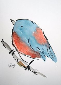 """For Sale: Watercolor birds by Richard McKey 