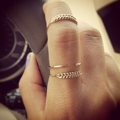 Jennie Kwon Designs / Braid Rings and Cuff Ring. I WANT these now!