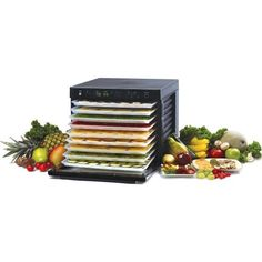Tribest Sedona® Food Dehydrator - L O V E. Bought at costco.com, where you seem to be able to get the best price / deal compared to other websites. I have researched dehydrators for a long time, and it came down to a choice between the Excalibur and the Sedona. I choose the Sedona because it has a glass front so that you can see what is happening inside, you can run one or two fans at the same time (thus saving energy), it is digital vs analog and it fits into a microwave cavity.