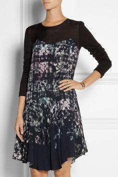 Tibi|Printed crepe dress|NET-A-PORTER.COM