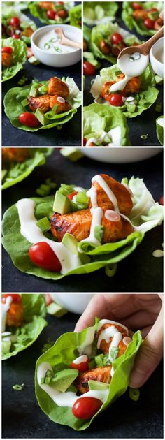 Get game day ready with these healthier low calorie Grilled Buffalo Chicken Lett. Get game day ready with these healthier low calorie Grilled Buffalo Chicken Lettuce Wraps! All the same great flavor with half the calories! Grilled Buffalo Chicken, Buffalo Chicken Lettuce Wraps, Chicken Wraps, Chicken Tacos, Healthy Snacks, Healthy Eating, Healthy Recipes, Delicious Recipes, Diet Recipes