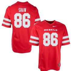 Men s UNLV Rebels  86 Russell Shaw College Football Jerseys Sale-Red 3474b4b35