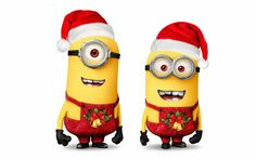 Minions especial Navidad para Imprimir Gratis.