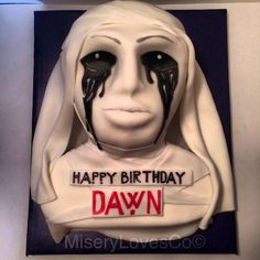 The American Horror Story white widow cake. all edible art more pics and video at www.facebook.com/mlc510 and www.miserylovesco.biz