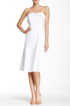 Ready for Spring in this Black Halo White Chevelle Dress
